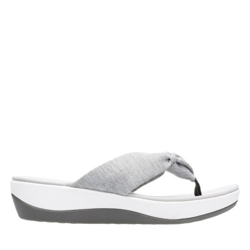 Arla Glison Grey Heather Fabric womens-flip-flops-sandals
