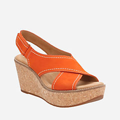 Aisley Tulip Orange Nubuck womens-sandals-wedge