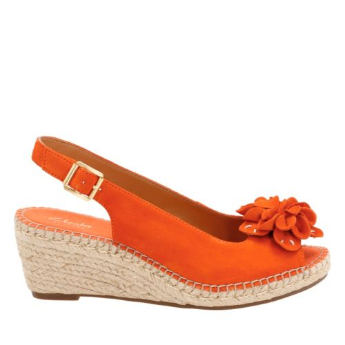 Retro Sandal History: Vintage and New Style Shoes Petrina Bianca In Orange Nubuck $100.00 AT vintagedancer.com