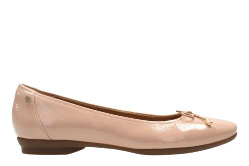 Candra Light Dusty Pink Patent Women S Flats Clarks