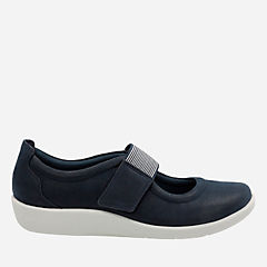 Sillian Cala Navy Synthetic Nubuck womens-maryjanes