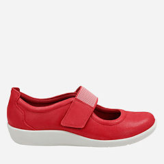 Sillian Cala Red Synthetic Nubuck womens-maryjanes