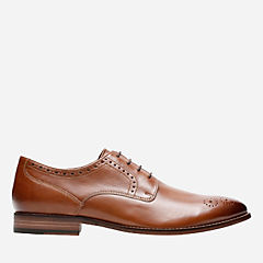 Ensboro Plain Tan Leather mens-oxfords-lace-ups