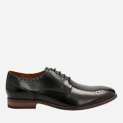 Ensboro Plain Black Leather mens-oxfords-lace-ups