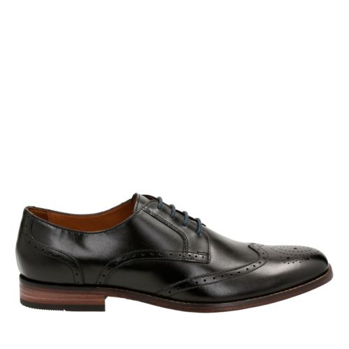 Narrate Wing Black Leather mens-dress-shoes