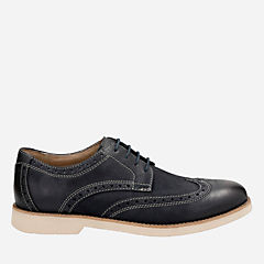 Pariden Wing Navy Nubuck mens-dress-casual-shoes