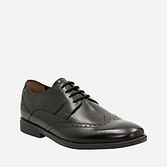 Yorkton Wing Black Leather mens-dress-shoes