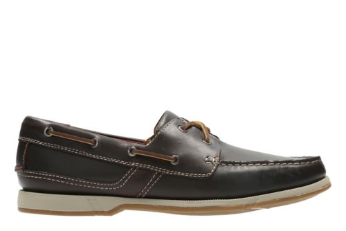 Fulmen Row Dark Brown Leather mens-boat-shoes