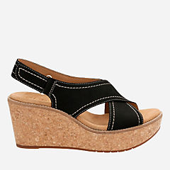 Aisley Tulip Black Nubuck womens-sandals-wedge