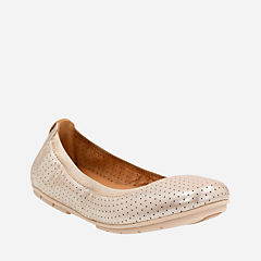 Un Tract Gold Metallic womens-flats