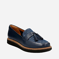 Glick Castine Navy Leather womens-casual-shoes