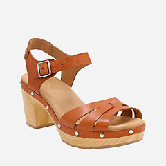 Ledella Trail Tan Leather womens-heels