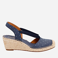 Petrina Kaelie Navy Fabric womens-navy-shoes