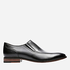 Ensboro Step Black Leather mens-ortholite