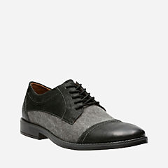 Garren Cap Black Combi Leather mens-oxfords-lace-ups