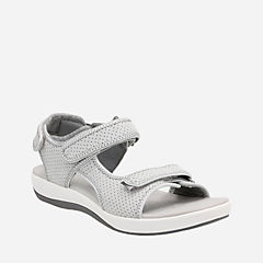 Brizo Sammie Light Grey Perf Textile womens-sandals-sport