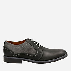 Garren Fly Black Combi Lea mens-oxfords-lace-ups