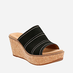Aisley Lily Black Nubuck womens-sandals-wedge