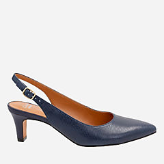 Crewso Riley Navy Leather Lizard Print womens-collection