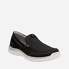 Marus Step Black Textile mens-boat-shoes