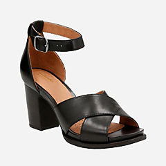 Briatta Tempo Black Leather womens-heels