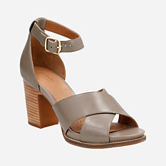 Briatta Tempo Khaki Leather womens-heels