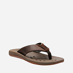 Bosun Coast Brown Nubuck mens-flip-flops-sandals