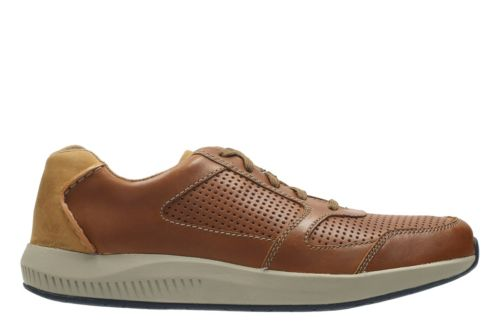 Sirtis Mix Dark Tan Leather mens-casual-shoes