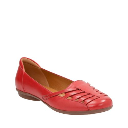 Gracelin Gemma Red Leather womens-wide-width