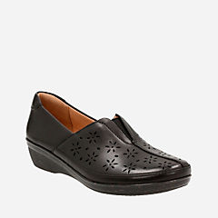 Everlay Dairyn Black Leather womens-comfort-shoes