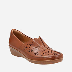 Everlay Dairyn Dark Tan Leather womens-comfort-shoes
