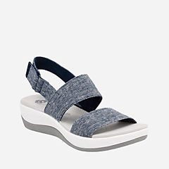 Arla Jacory Navy/White Heathered Elastic womens-sandals-sport