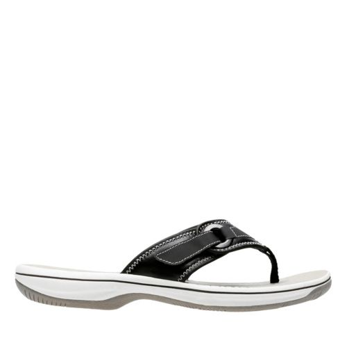 Breeze Mila Black Synthetic womens-flip-flops-sandals