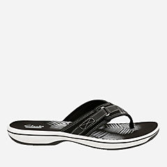 Breeze Sea Black Synthetic womens-flip-flops-sandals
