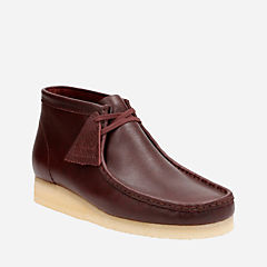 Wallabee Boot Burgundy Tumbled mens-boots