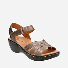 Delana Varro Pewter Leather womens-collection