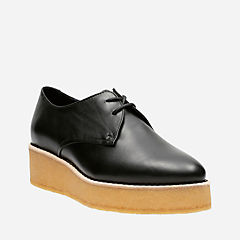 Ornella Flat Black Leather womens-casual-shoes