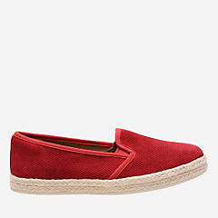 Azella Theoni Red Suede womens-wide-width
