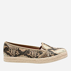 Azella Theoni Beige Synthetic Snake Print womens-medium-width