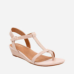 Parram Blanc Nude Suede womens-sandals-wedge