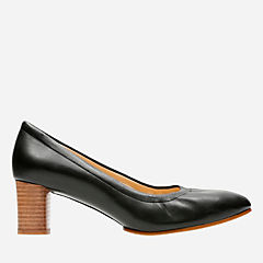 Grace Isabella Black Leather womens-heels