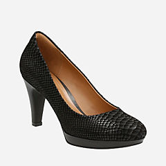 Brier Dolly Black Snake Print Suede womens-collection