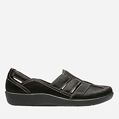 Sillian Stork Black Synthetic Nubuck womens-collection