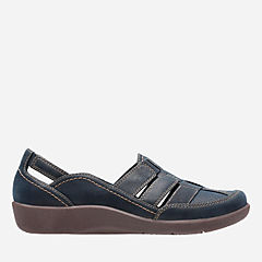 Sillian Stork Navy Synthetic Nubuck womens-collection