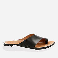 Tri Alba Black Leather womens-flat-sandals
