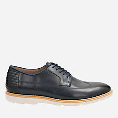 Gambeson Style Navy Leather mens-oxfords-lace-ups