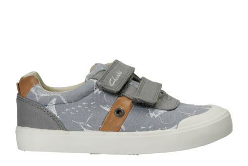 Comic Zone Toddler Grey Canvas boys-sneakers