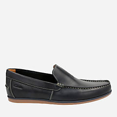 Bristow Race Navy Leather mens-loafer-slip-on