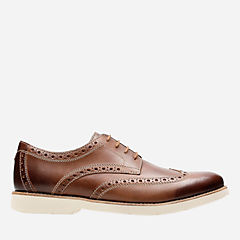 Pariden Wing Tan Leather with Taupe Outsole mens-ortholite