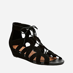 Parram Lux Black Suede womens-sandals-wedge